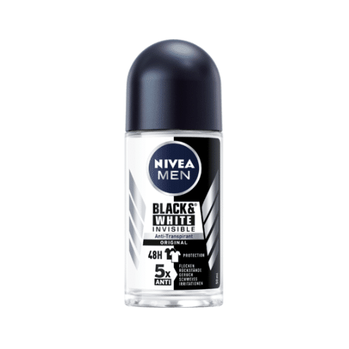 NIVEA MEN Deo Roll On Antitranspirant B W Power, 50 ml